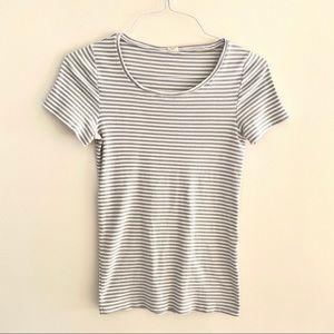 J. Crew gray/white tshirt